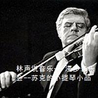 林声说音乐-- 漫步音乐会--苏克的小提琴小品