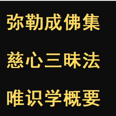 《弥勒菩萨成佛集》白话文讲说汇编