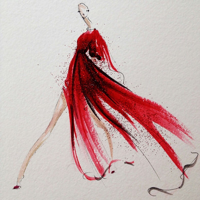 红裙小美人