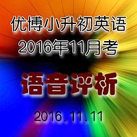 2016-11月月考语单评析