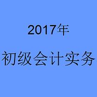 2017年初级会计实物-题