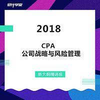2018注会CPA考试-公司战略与风险管理