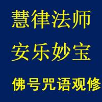 慧律法师《安乐妙宝》佛号咒语观修妙法