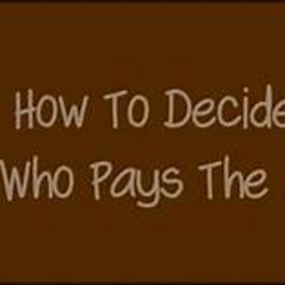 誰來買單 Who pays the bill?