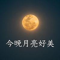 今晚月亮好美