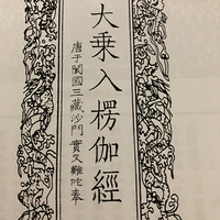 唐译大乘入楞伽经卷第六偈颂品第十之一之一