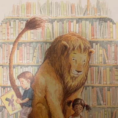 琪琪宝贝讲故事 图书馆狮子