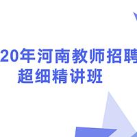 2020河南教师招聘超细精讲班