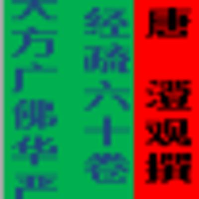 大方广佛华严经疏 (60卷)-唐 澄观撰