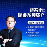蔡春雷:掘金不良资产