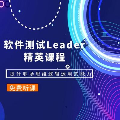 软件测试Leader精英课程职场重要干货