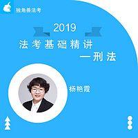 2019法考基础精讲刑法杨艳霞