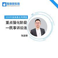 2019法考重点强化民诉法张进德