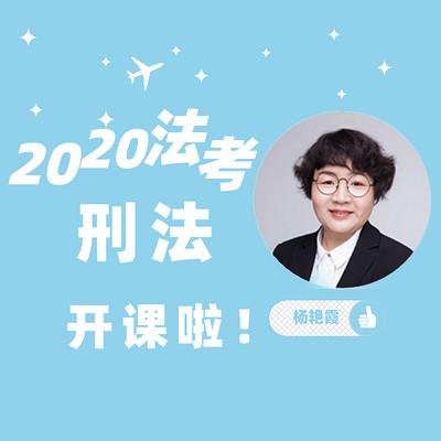 2020法考刑法-杨艳霞老师解读课