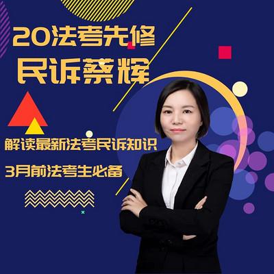 2020法考先修民诉蔡辉
