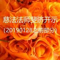 慈法法师斐济开示(20190128之前)