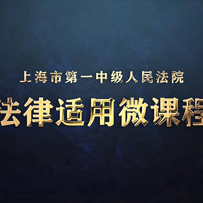 上海一中院《微课程》专栏