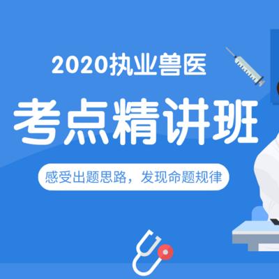 考试宝典|2020执业兽医考点精讲