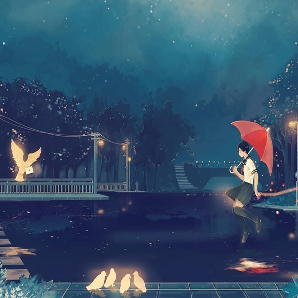 夜半秋雨声
