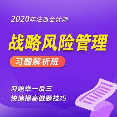 2020年注册会计师|CPA战略习题班