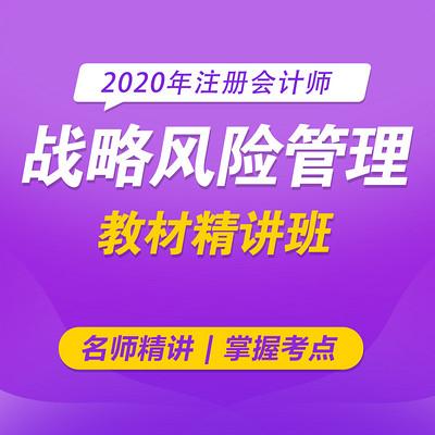 2020注册会计师|cpa战略风险管理|