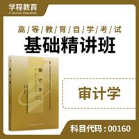自考00160审计学【学程自考】