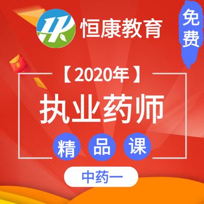 2020执业药师中药一 精品课(全)